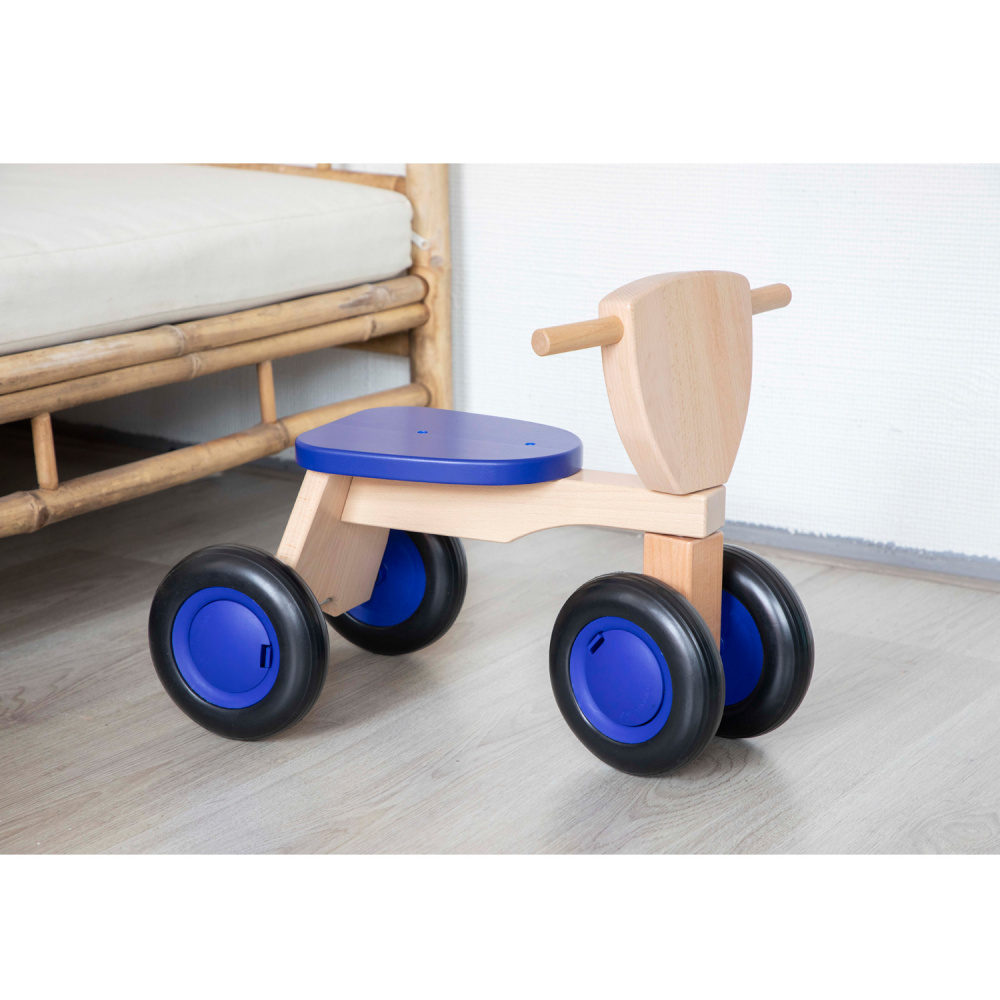 New Classic Toys Gåsykkel i Tre, Blå   greentoys.no