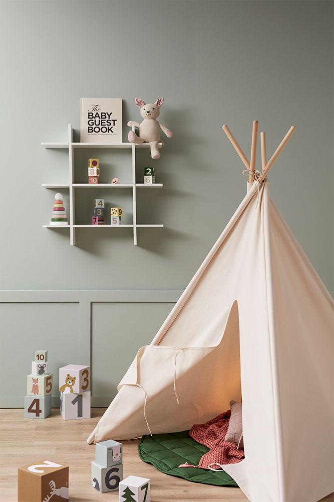 Kid's Concept Tipi Telt, Off White | greentoys.no